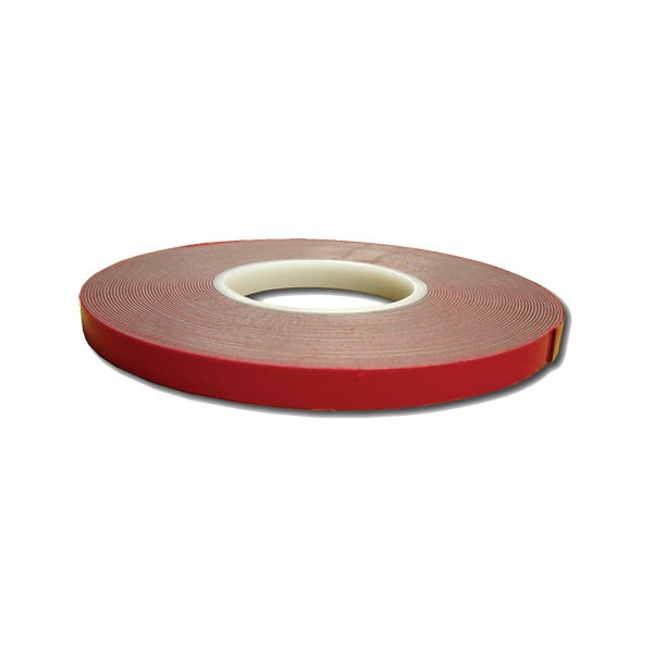 "Double Face Tape - 1/2"" x 60' - Red Liner"