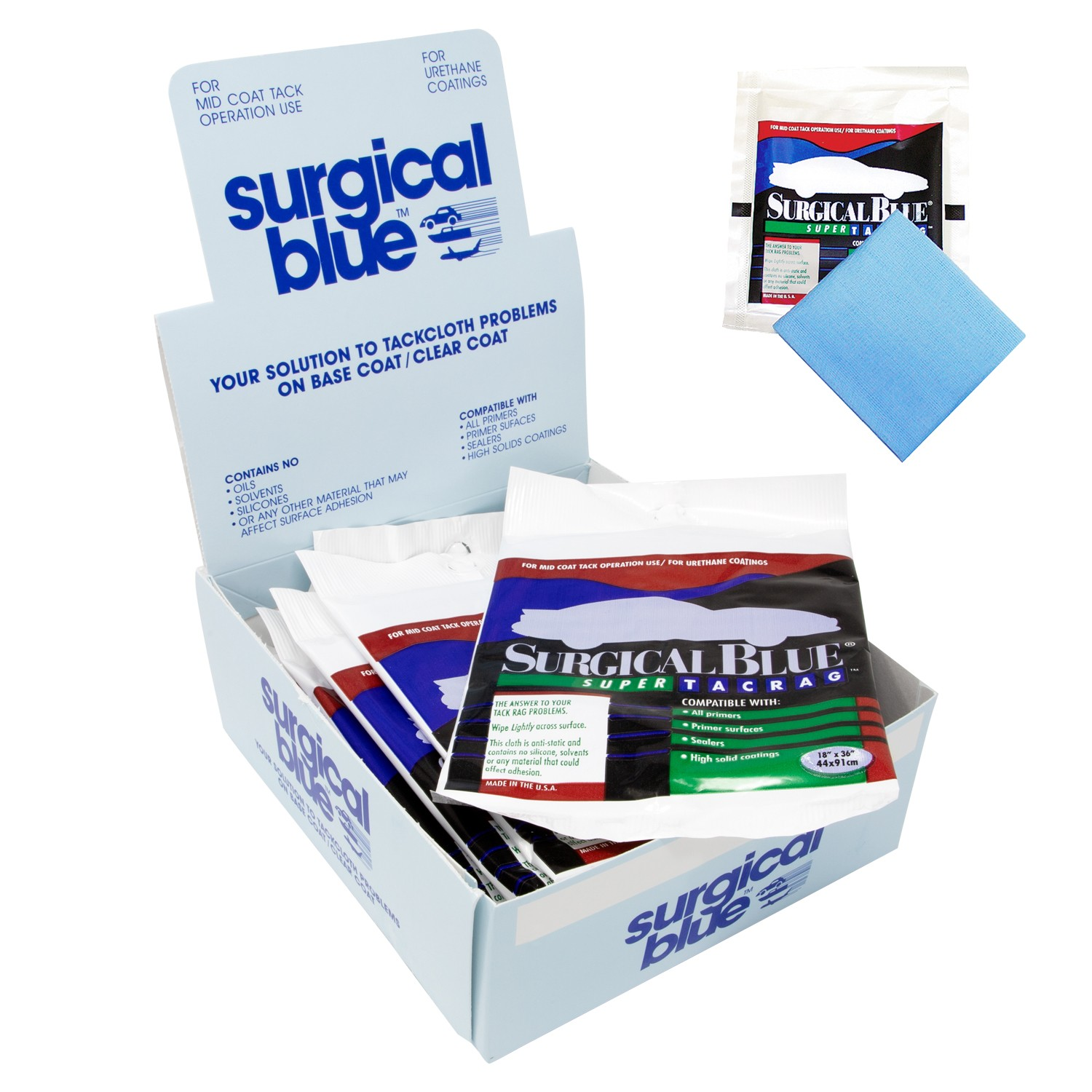 Surgical Blue Tack Rags - 1box (12pc)