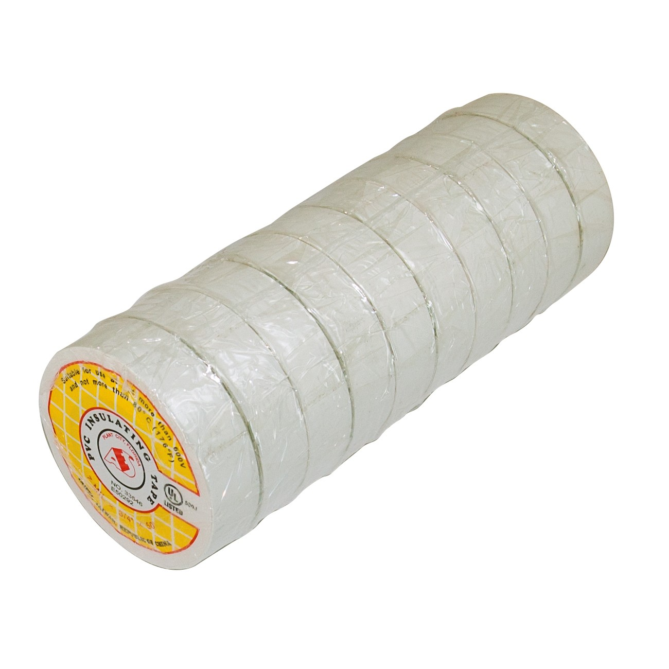 "50ft 3/4"" Electrical Tape - White (10 Rolls)"