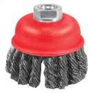 "3"" x 5/8"" - 11 Knotted Wire Cup Brush"