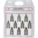 "10PC 1/2"" Drive Tamper-Proof Star Bit Set"