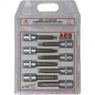 "8PC 1/2"" Drive Tamper-Proof Star Bit Set"