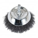 "3"" Wire Cup Brush with 1/4"" Shank - Fine Wire"