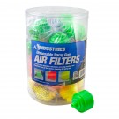 25pc Disposable Spray Gun Air Filter Display