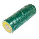 "50ft x 3/4"" Electrical Tape - Green (10 Rolls)"