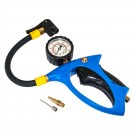 Comfort Grip Tire Inflator with Dual Chuck & Glow-in-the-Dark Gauge