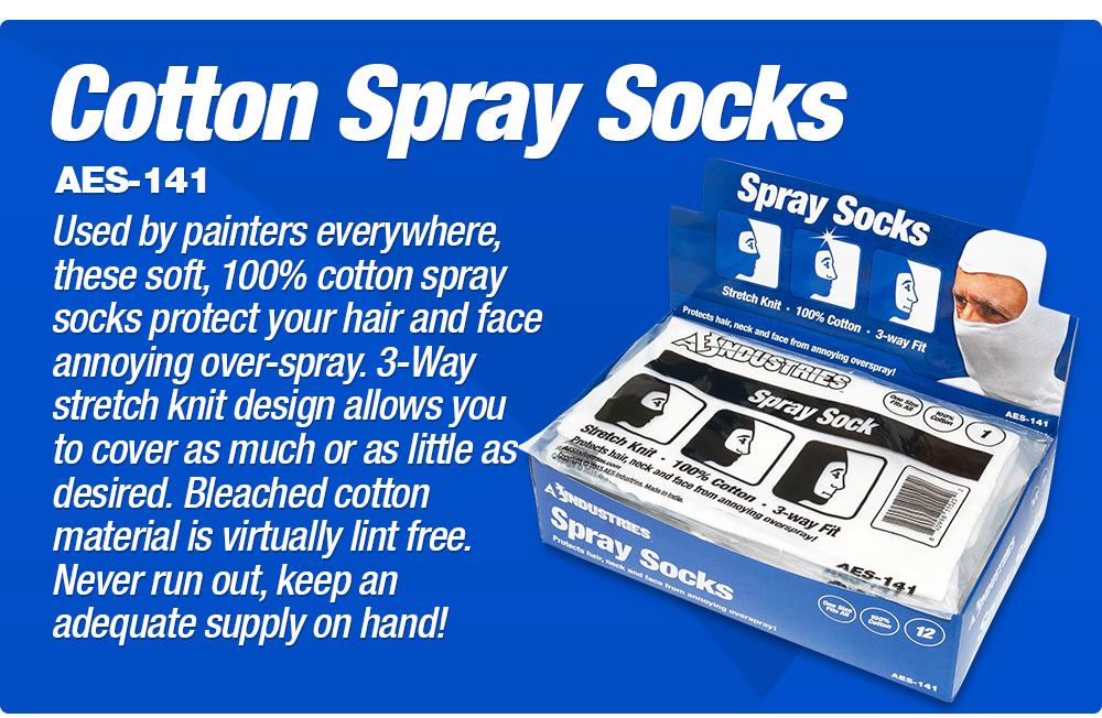 Spray Socks, Cotton, 12pc per Box