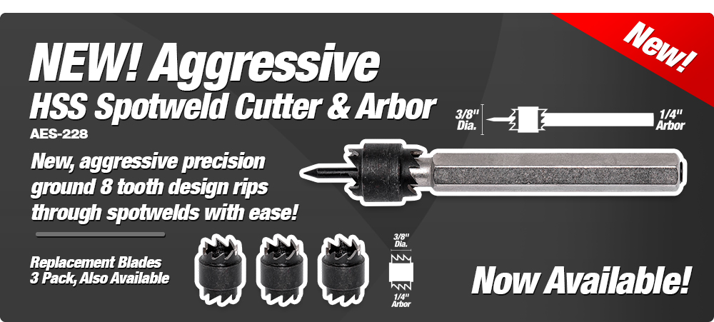 NEW! Aggressive HSS Spotweld Cutters