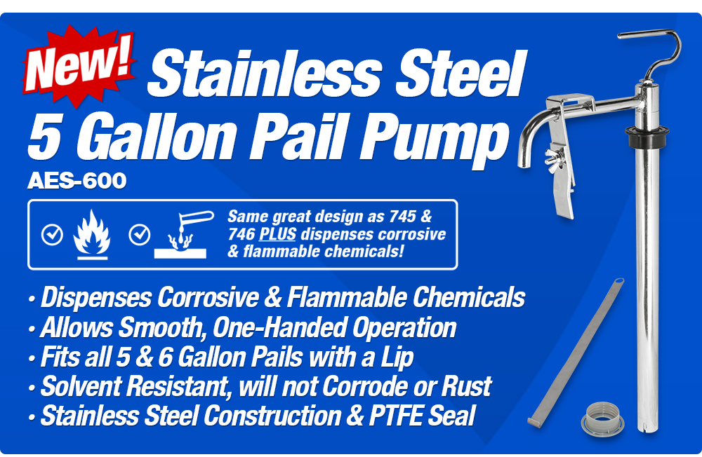 AES-600 NEW Stainless Steel Pump
