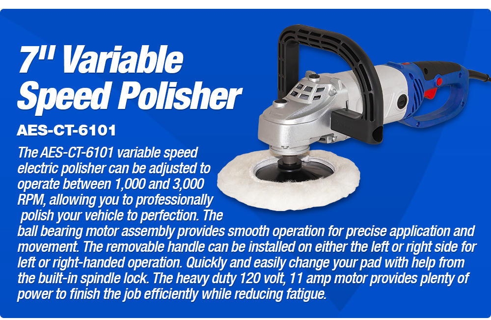 7in Variable Speed Polisher
