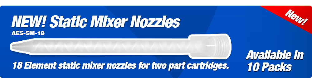 NEW! Static Mixer Nozzles, 10pc per Pack