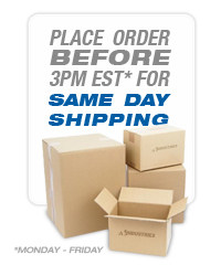Orders placed M-F before 3pm EST ship same day!